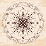 Compass wind rose. Compass old vector. Rose of Wind. Brown pattern on the beige background with the aging effect Stock Photos