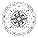Compass wind rose. Old Vintage Compass vector. Rose of Wind Stock Photos