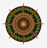 Compass wind rose symbol Royalty Free Stock Photo
