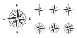 Compass wind rose. Wind rose compass icons set, vector illustration vector illustration