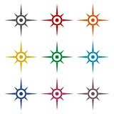 Compass, windrose icons set Stock Images