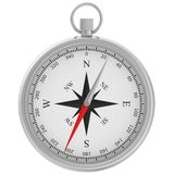Compass with windrose isolated on white background Royalty Free Stock Photos