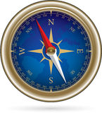 Compass with windrose. Retro style Shiny Compass with windrose - vector Illustration Stock Image