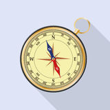 Compass with windrose and shadow. Vector image. Stock Photo