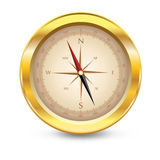 Compass with windrose. Royalty Free Stock Images