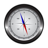 Compass with windrose. Royalty Free Stock Photos