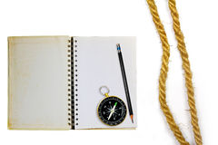 Compass With Rope Stock Photos