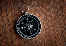 Compass on a wood background Stock Images