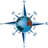 Compass-World Royalty Free Stock Photography