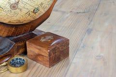 Compass and world globe Royalty Free Stock Photos