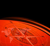 Compass and World Map. Abstract background with compass icons and world map Stock Photography