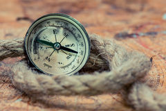 Compass and world map Royalty Free Stock Image