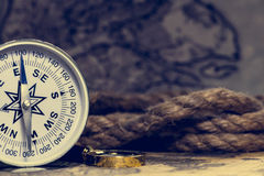 Compass on the world map royalty free stock image