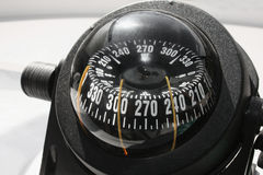 Compass on the yacht, the ship Royalty Free Stock Photography