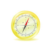 Compass in yellow color vector Royalty Free Stock Images