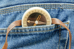 Compass in your pocket Royalty Free Stock Photography