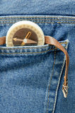 Compass in your pocket Royalty Free Stock Photos