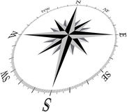 Compass1_3D (Brujula1_3D). Compass Illustration, in 3D perspective Stock Illustration