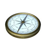 Compasses. 3D CG rendering of a compasses Royalty Free Stock Images