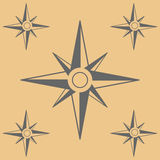 Compasses flat icons set. Vector illustration Royalty Free Stock Photography