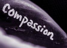 Compassion Stone in purple toned monochrome stock photo