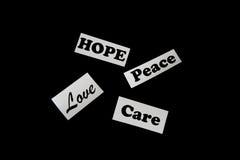 Compassion et appui Image libre de droits