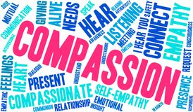 Compassion Word Cloud. On a white background Stock Photo
