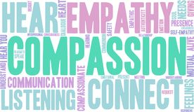 Compassion Word Cloud Stock Photography