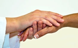 Compassionate hands Stock Images
