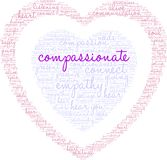 Compassionate Word Cloud. On a white background Royalty Free Stock Photo