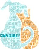 Compassionate Word Cloud. On a white background Royalty Free Stock Photography