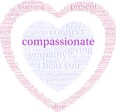 Compassionate Word Cloud. On a white background Stock Image
