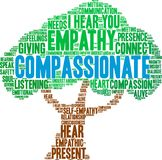 Compassionate Word Cloud. On a white background Stock Images