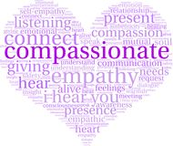 Compassionate Word Cloud. On a white background Royalty Free Stock Photos