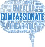 Compassionate Word Cloud. On a white background Royalty Free Stock Images