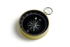 Compasso antigo no fundo branco Fotografia de Stock Royalty Free