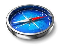 Compasso azul do metal Fotos de Stock Royalty Free