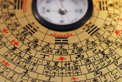 Compasso chinês de Feng Shui Imagens de Stock Royalty Free
