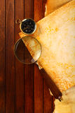 Compasso com ampliação Fotografia de Stock