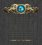 Compasso com frame ornamentado Foto de Stock