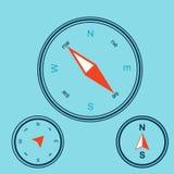 Compasso cor-de-rosa do vento Ilustração do vetor geografia Fotos de Stock