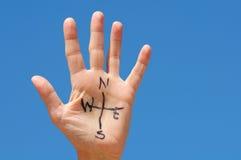 Compasso da mão Fotografia de Stock Royalty Free