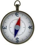 Compasso da moeda Fotografia de Stock