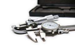 Compasso de calibre e micrômetro Foto de Stock