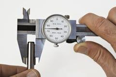 Compasso de calibre e Pin Fotografia de Stock Royalty Free