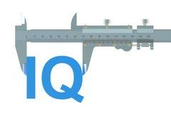 Compasso de calibre vernier com Q.I. Fotografia de Stock