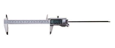 Compasso de calibre vernier de Digitas - isolado no branco fotografia de stock