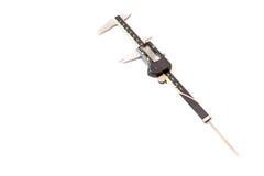 Compasso de calibre vernier de instrumento de medição isolado Fotografia de Stock