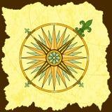 Compasso detalhado ilustração stock