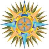 Compasso detalhado colorido ilustração royalty free